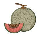 Applikation Patch Sticker Melone 7,2 x 7,5m Farbe: Grau-Lachs