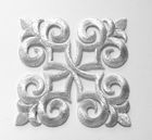 1 Applikationen Patch Tribal 9 x 9cm Farbe: Lurex-Silber