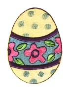 Applikation Patch Sticker Ostern Osterei 6x8cm