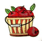 Applikation Patch Sticker Früchtekorb mit Äpfel 7 x 7,5cm