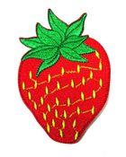 Applikation Patch Sticker Erdbeere 6 x 9,2cm