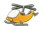 Applikation Patch Sticker Hubschrauber 8 x 5,5cm
