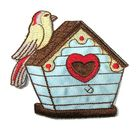 Applikation Patch Sticker Vogelhaus 8 x 8cm