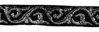 18m Mittelalter-Borte Webband 12mm breit Farbe: Schwarz-Lurexsilber