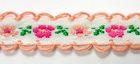 20m Schlaufenborte Blumen Webband 13mm breit Farbe: Terracotta