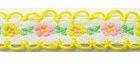 20m Schlaufenborte Blumen Webband 13mm breit Farbe: Gelb