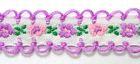 20m Schlaufenborte Blumen Webband 13mm breit Farbe: Violett