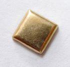 100 Bügelnieten Viereck 7x7mm Farbe: Gold CHAN3-21