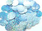 480 Gramm Pailletten-Geld Ø 20mm Farbe: Skyblue