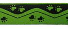 10m Borten Webband Hundemotiv Applikation 25mm breit Farbe: Grün-Schwarz