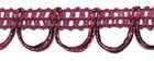 16,40m Corsageborte 15mm breit Farbe: Bordeaux
