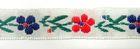 1m wunderschöne edle Blumen-Borte Webband 13mm breit
