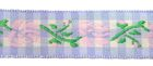 1m wunderschöne edle Blumen-Borte Webband 17mm breit