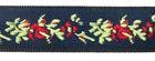 1m wunderschöne edle Blumen-Borte Webband 15mm breit