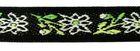 1m wunderschöne edle Blumen-Borte Webband 12mm breit