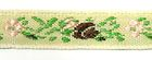 1m wunderschöne edle Blumen-Borte Webband 10mm breit
