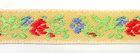 1m wunderschöne edle Blumen-Borte Webband 11mm breit