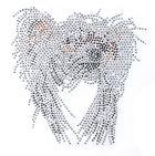 Applikation Bügelmotiv Chinese Crested Dog 16x16cm