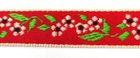 1m wunderschöne edle Blumen-Borte Webband 14mm breit