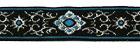 10m Brokat Borte Webband 16mm breit Farbe: Hellblau-Lurexsilber