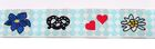 10m TrachtenBorte Webband 16mm breit Wiesn Farbe: Rot-Weiss-Hellblau-Braun-Blau