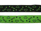 10m Borten Webband Hundemotiv Applikation 18mm breit Farbe: Grün-Schwarz