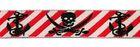 10m Borten Webband Piratenmotiv Applikation 18mm breit Farbe: Rot-Weiss