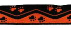 10m Borten Webband Hundemotiv Applikation 16mm breit Farbe: Terracotta-Schwarz