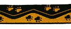 10m Borten Webband Hundemotiv Applikation 16mm breit Farbe: Gelb-Schwarz