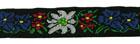 10m TrachtenBorte Webband 20mm breit Farbe: Rot-Grün-Weiss-Schwarz-Gelb