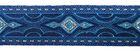 10m Lava Mittelalterborte Webband 25mm breit Farbe: Blau-Silber