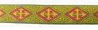 10m Mittelalter Borte Webband 12mm breit Farbe: Orange-Rot-Grün