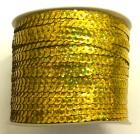 72m Paillettenband Cup 6mm breit Farbe: Gelb-Gold-Laser