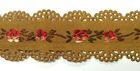 1m wunderschöne edle Blumen-Borte Webband 22mm breit