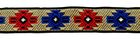 22m Retro-Borte Webband 12mm breit Beige-Blau-Rot