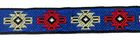 22m Retro-Borte Webband 12mm breit Farbe: Beige-Blau-Rot