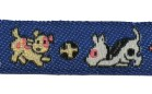 22m Hundemotiv-Borte Webband 12mm breit Farbe: Dunkelblau