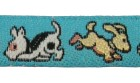 22m Hundemotiv-Borte Webband 12mm breit Farbe: Türkis