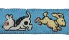 22m Hundemotiv-Borte Webband 12mm breit Farbe: Stahlblau