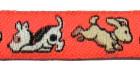 22m Hundemotiv-Borte Webband 12mm breit Farbe: kräftiges Orange