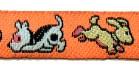 22m Hundemotiv-Borte Webband 12mm breit Farbe: Orange