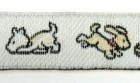 22m Hundemotiv-Borte Webband 12mm breit Farbe: Weiss