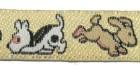 22m Hundemotiv-Borte Webband 12mm breit Farbe: Hellbraun