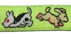 22m Hundemotiv-Borte Webband 12mm breit Farbe: Neongrün