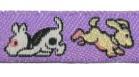 22m Hundemotiv-Borte Webband 12mm breit Farbe: Lila
