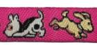 22m Hundemotiv-Borte Webband 12mm breit Farbe: Pink