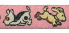 22m Hundemotiv-Borte Webband 12mm breit Farbe: Rosa