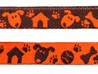 22m Hunde-Borte Webband 12mm breit Farbe: Terracotta-Braun