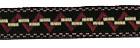22m Retro-Borte Webband 12mm breit Farbe: Rot-Schwarz-Weiss