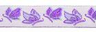 22m Schmetterlings-Borte Webband 12mm breit Farbe: Lila-Violett